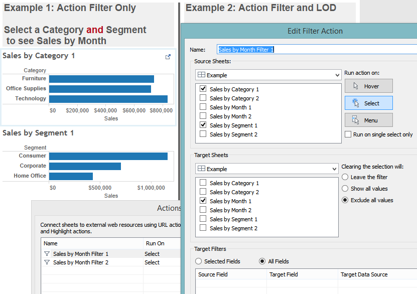 Example 1: Action Filter Only