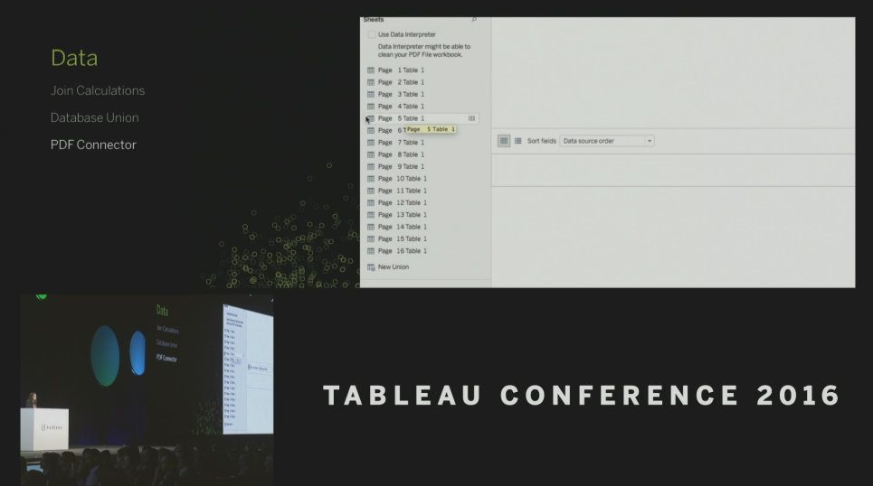 Tableau Conference 2016 - Devs on Stage - PDF Connector