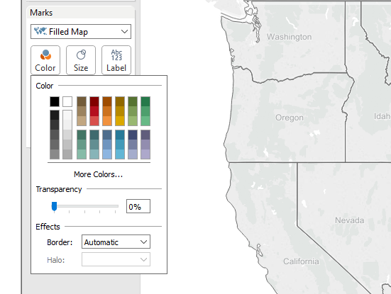 Tableau: Adjust Transparency