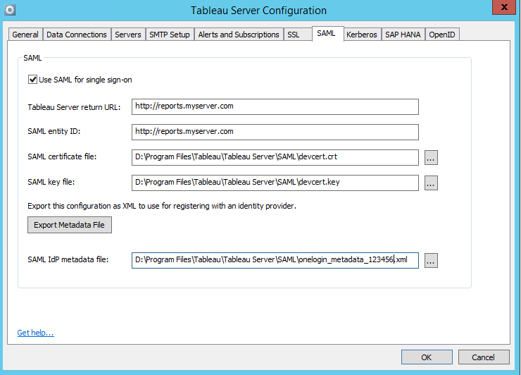 Tableau Server Configuration