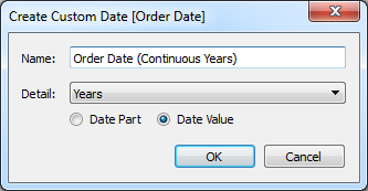 Order Date (Continuous Years)