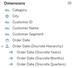 Custom date hierarchy