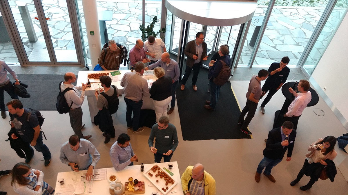 Networking and snacks at a TUG meeting