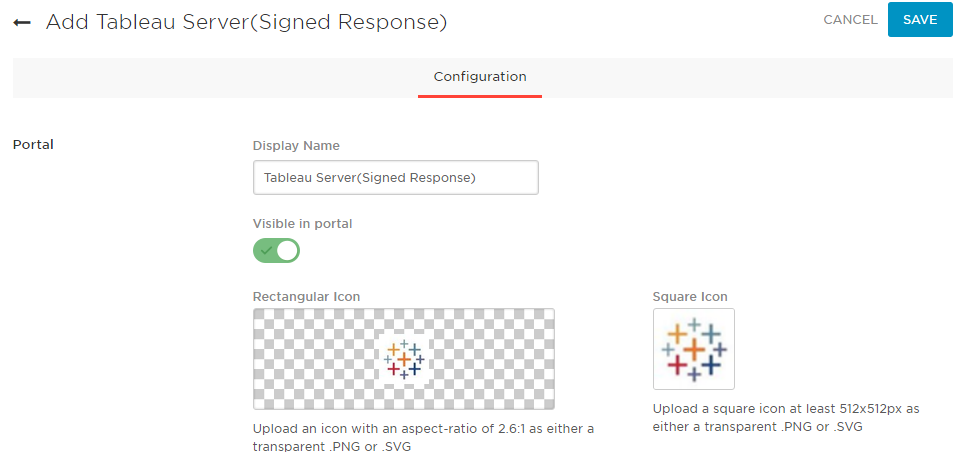 Add Tableau Server(Signed Response)