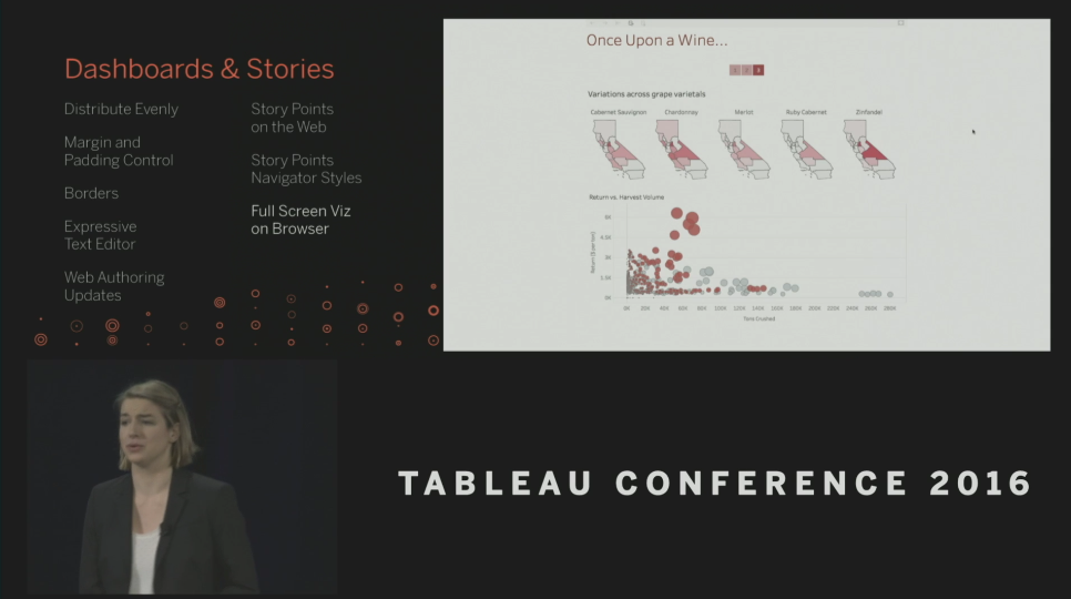 Tableau Conference 2016 - Devs on Stage - Story Points for Web