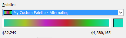 Psychedelic color palette