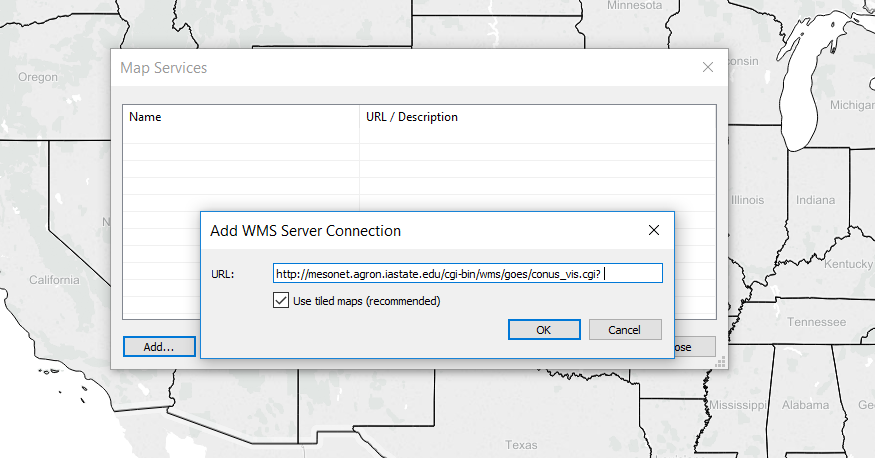 Tableau: Add to WMS Servers…