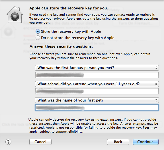FileVault Apple ID