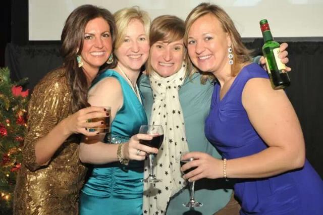 Tiffany, Lindsay Kedy, Kate Treadwell and Carly Capitula at IW Christmas party