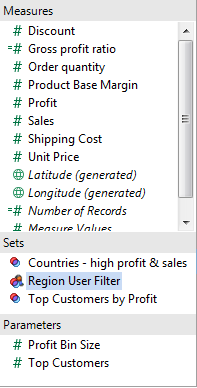 Creating a User Filter in Tableau 8 - Step 3