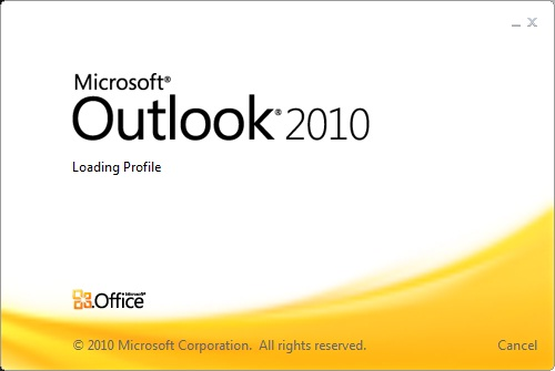 Outlook 2010 stuck on loading profile window | InterWorks