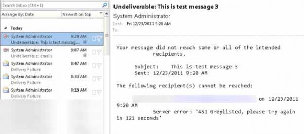 Undeliverable Message and 451 Greylisted | InterWorks