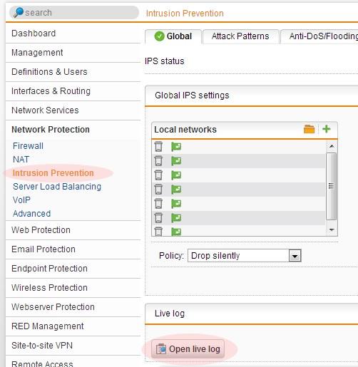 Sophos UTM v9 Intrusion Prevention and Creating Exceptions | InterWorks