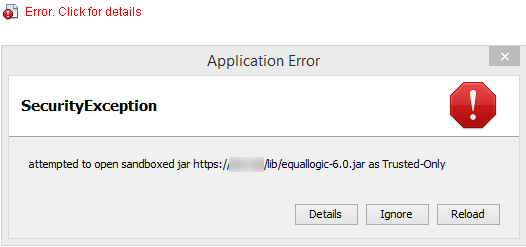 Java Security: Application Blocked by Security Settings