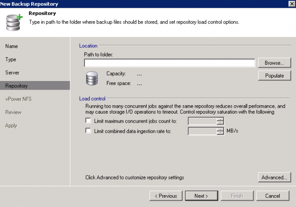 Migrating Veeam 6 Backups and Creating a New Repository