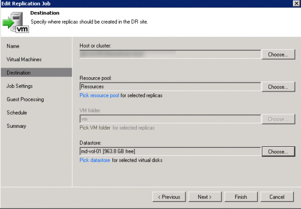 Configure Veeam 6 0 Replication Job for VMware | InterWorks