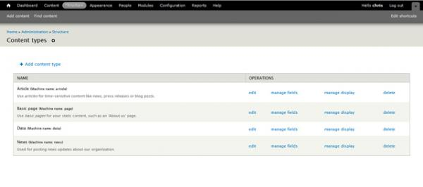 Drupal 7 finished new content type