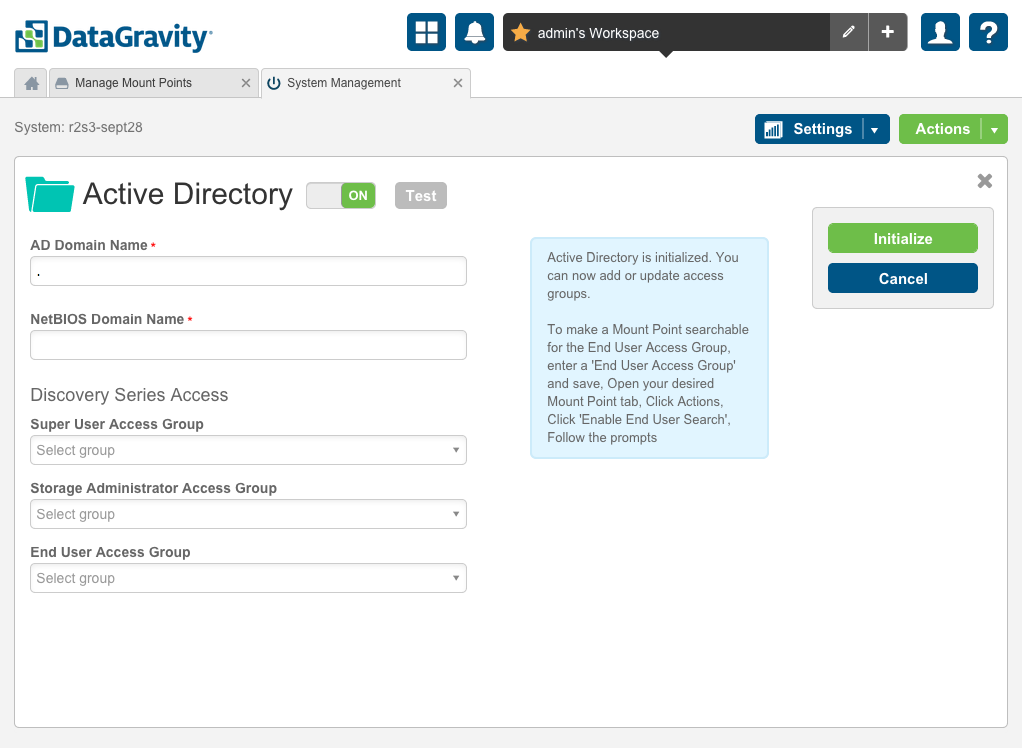 Setup Active Directory